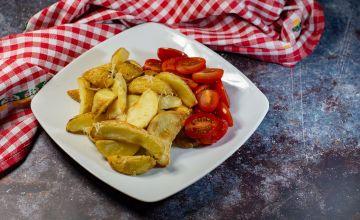 Хрустящая картошка с курицей