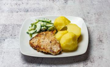 Картофель с жареным мясом