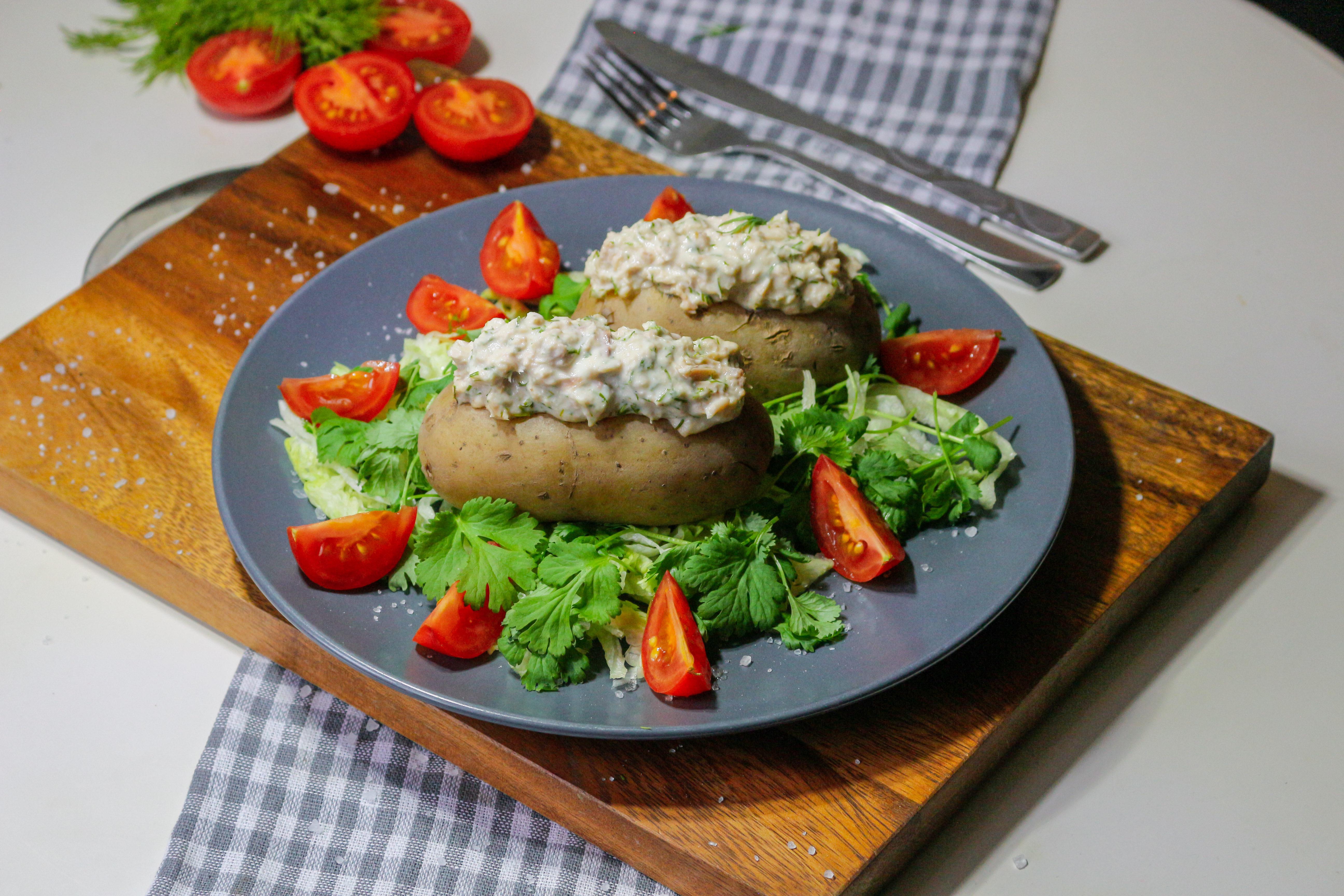 Картофель с тунцом